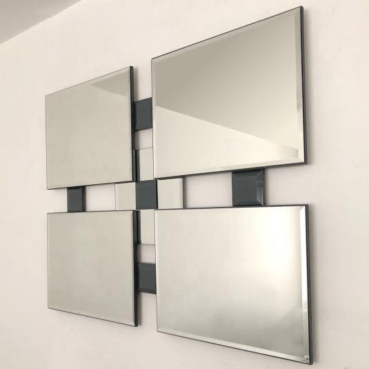 Quatro Grey Square Mirror