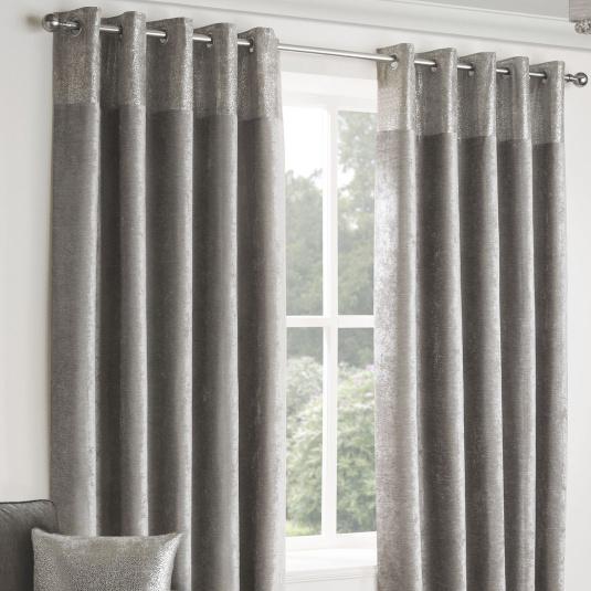 Belfield Nova Silver 66x72 Curtains