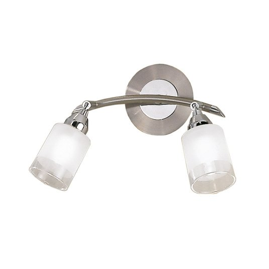 Campani Satin Nickel Two Wall Light