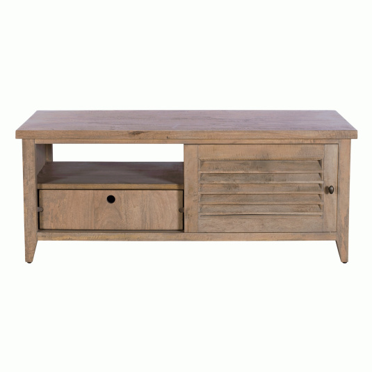 Milton Mango Wood Sliding Door Coffee Table