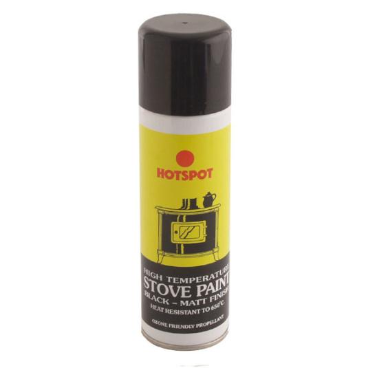 Hotspot Stove and Fireplace Matt Black Paint Aerosol