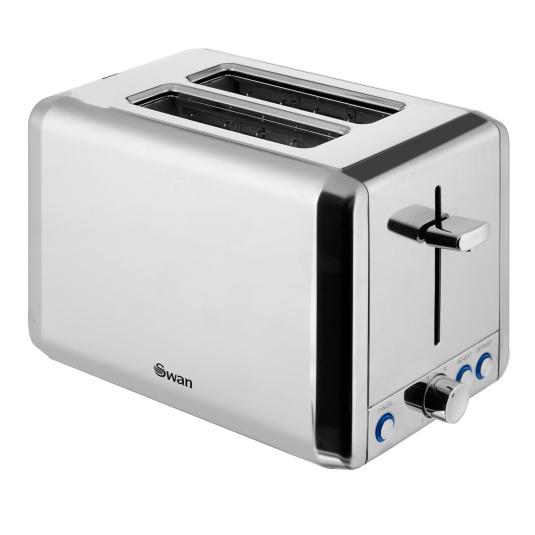 Swan Stainless Steel 2 Slice Toaster