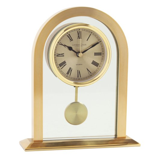 London Clock Company Gold Pendulum Mantel Clock
