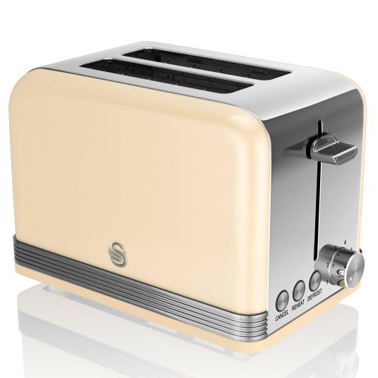 Swan Retro Cream 2 Slice Toaster