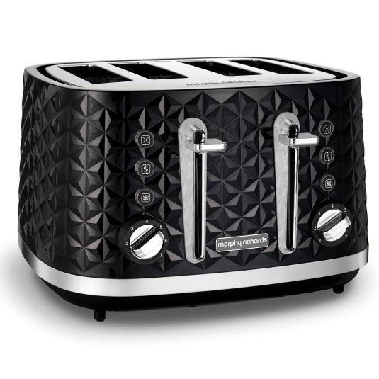 Morphy Richards Vector Black 4 Slice Toaster
