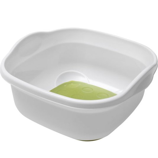Addis Soft Touch Green and White Washing Up Bowl