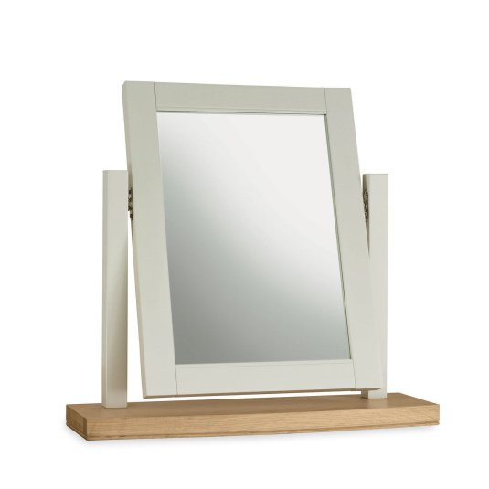 Henley Soft Grey and Oak Dressing Table Mirror