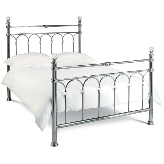 Bentley Designs Krystal Antique Nickel Bed Frame Collection
