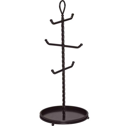Mikasa Gourmet Basics Rope Cast Base 6 Cup Mug Tree