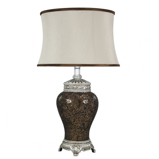 Abri Copper Mosaic Table Lamp and Shade
