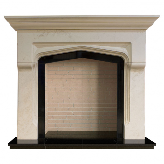 Gallotti Limestone Fire Surround with Cream Chamber