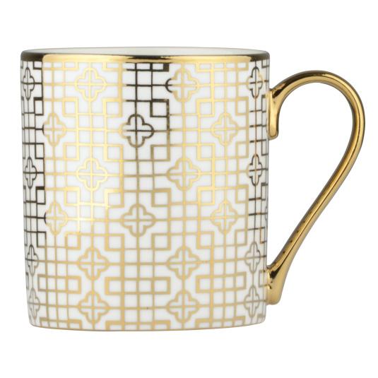 Art Deco Gold Straight Mug
