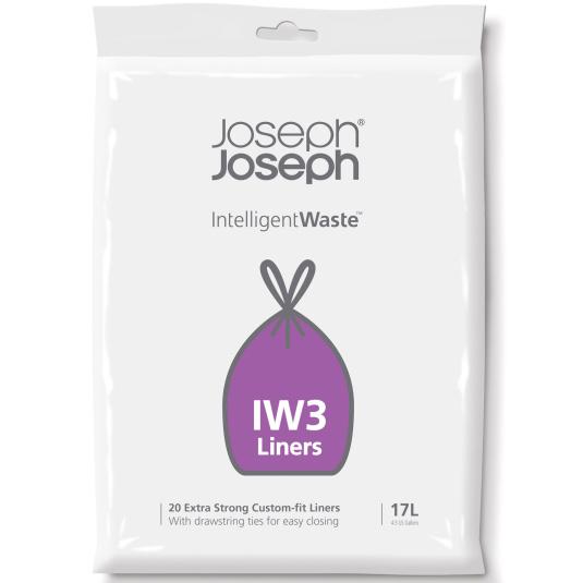 Joseph Joseph 17 Litre Totem Intelligent Waste Pack of 20 Bin Liners