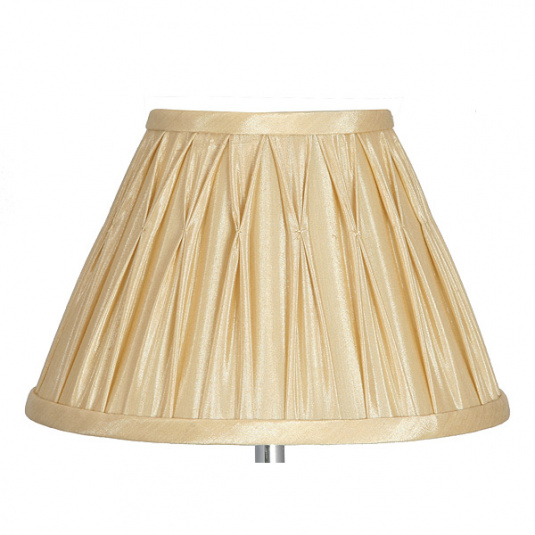 Gold Pinch Pleat Silk Shade Collection