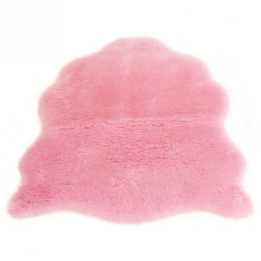 Single Pink Sheepskin Rug