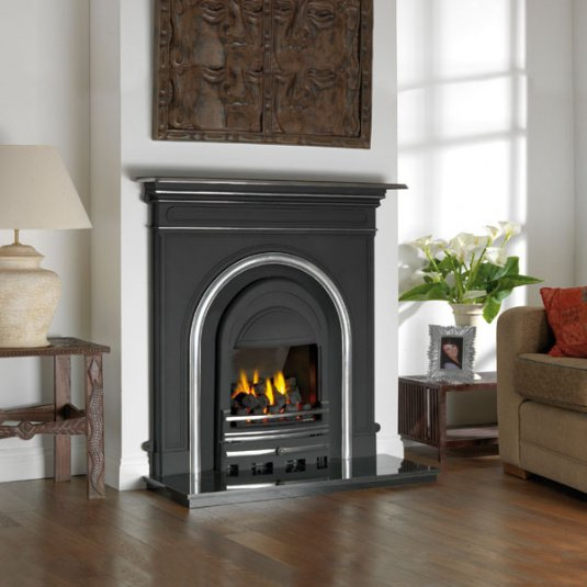 Majestic Integra Polished Gas Fireplace Insert