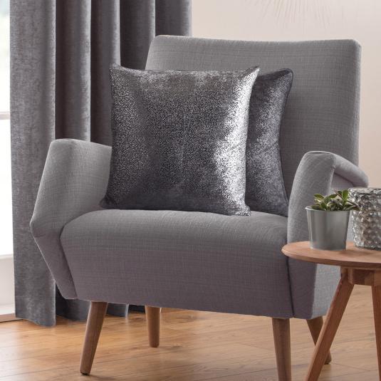 Belfield Nova Pewter Cushion Cover