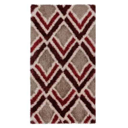 Velvet Bijoux Red & Brown 80cm x 150cm Rug