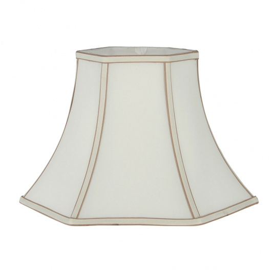 Bowed Hexagonal 12 Inch Cream Lamp Shade