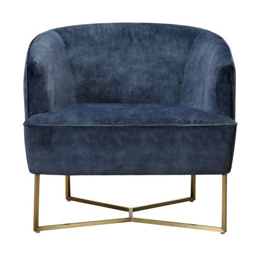 Emerson Petrol Blue Fabric Accent Chair