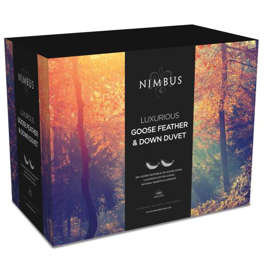 Nimbus Goose & Feather Down 13.5 Tog Duvet Collection