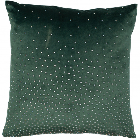 Malini Green Diamante Velvet Cushion