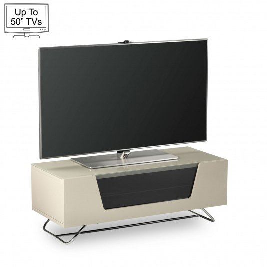 "Alphason Chromium 2 100cm Ivory TV Stand for up to 50"" TVs"