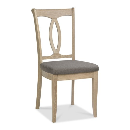 Raphael Chalk Oak Wooden Back Dining Chair