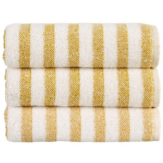 Christy Soho Stripe Ochre Bath Towel
