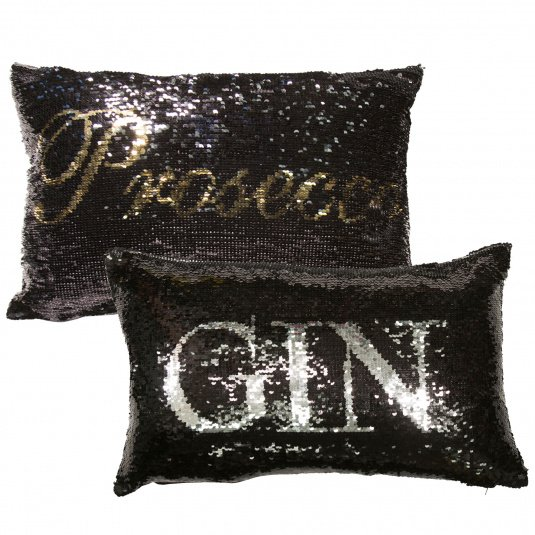 Malini Prosecco and Gin Reversible Sequin Cushion