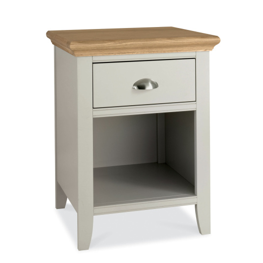 Henley Soft Grey and Oak One Drawer Nightstand