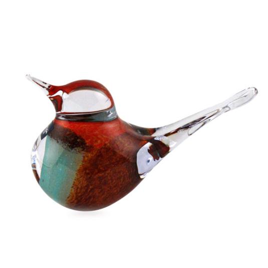 Svaja Teal and Brown Basil Bird