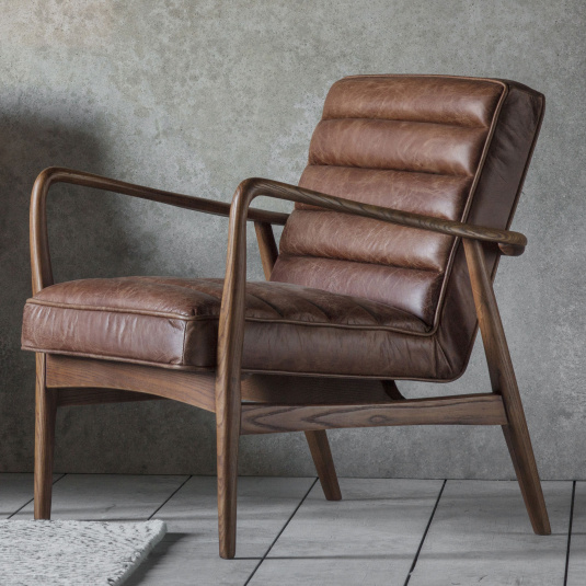 Saxby Vintage Brown Armchair