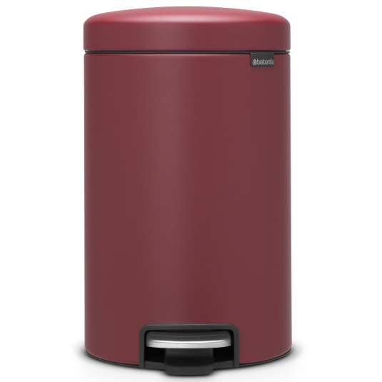 Brabantia NewIcon 12 Litre Mineral Windsor Red Pedal Bin