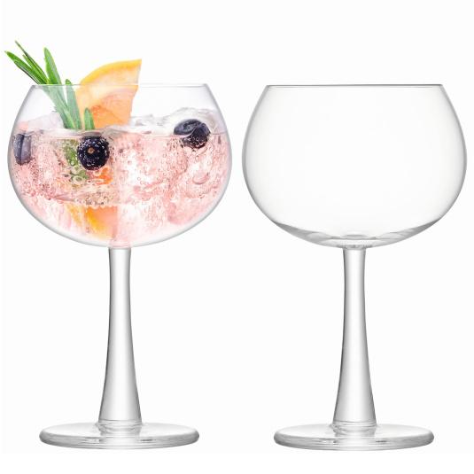 LSA Set of 2 Balloon Gin Glasses