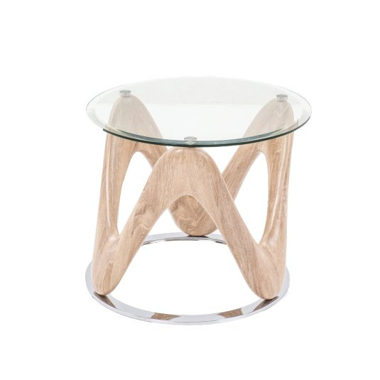 Dune Round Glass Side Table
