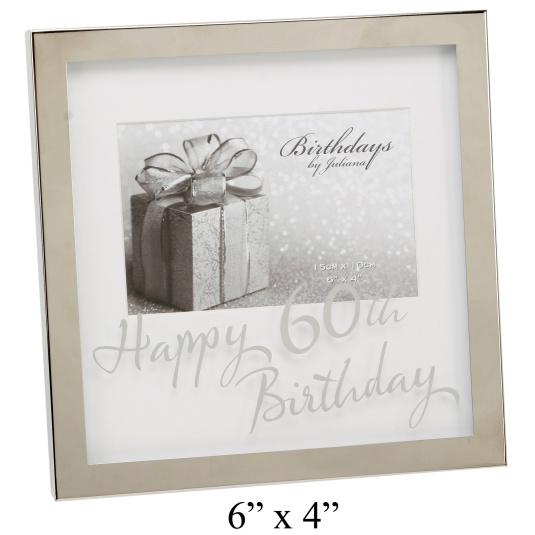 Happy 60th Birthday 6 x 4 Photo Frame