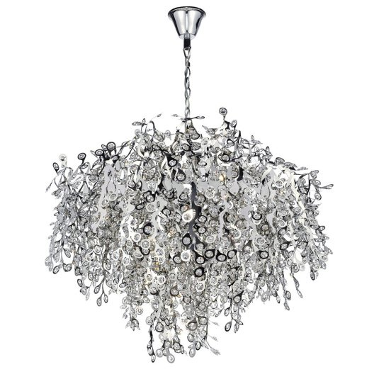 Konstantina 13 Light Chrome Pendant Light