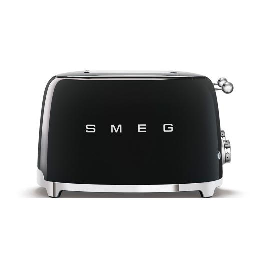 Smeg 50's Retro Style Black 4x4 Slice Toaster