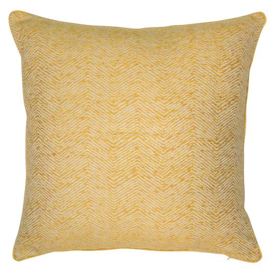 Malini Ripple Mustard & Grey Cushion