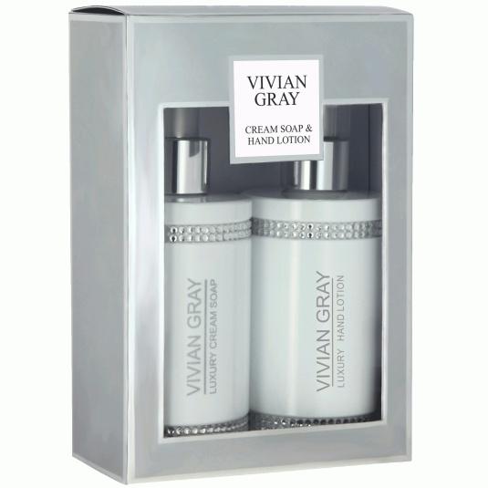 Vivian Gray White Crystal Soap & Hand Lotion
