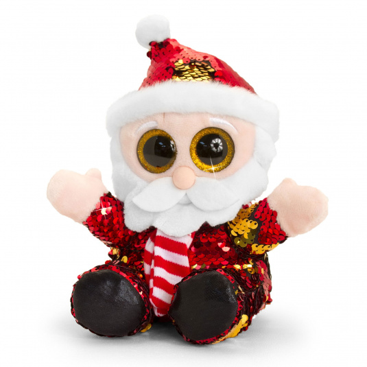 Glitter Sparkle Sequin Father Christmas Bear | Housing Units