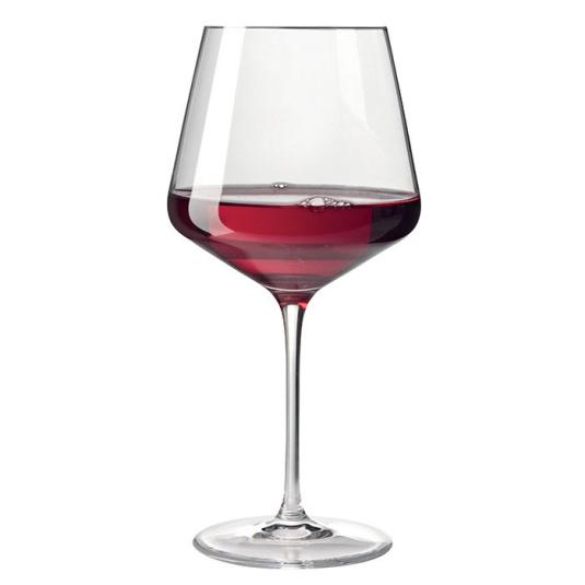 Puccini Burgundy Glass