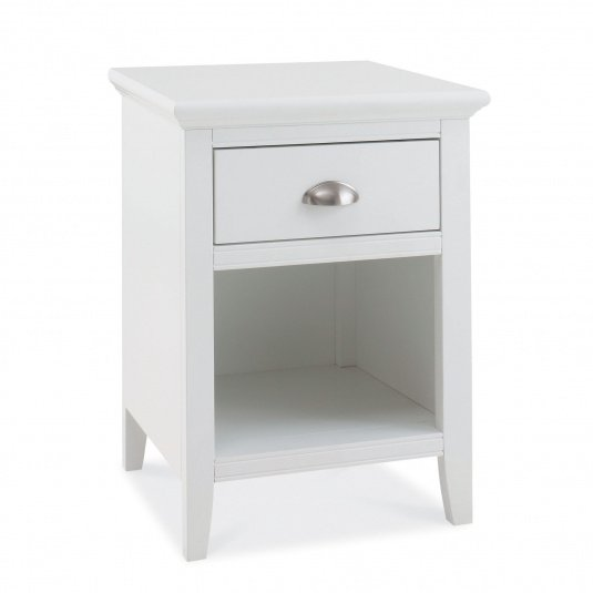 Henley White One Drawer Nightstand