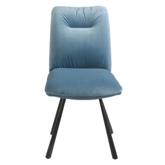 Carrera Light Blue Velvet Dining Chair