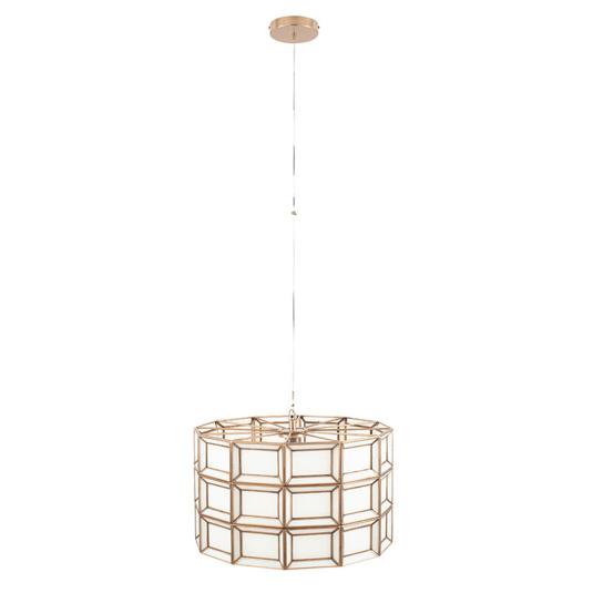 White Glass Brass Pendant Ceiling Light | Housing Units