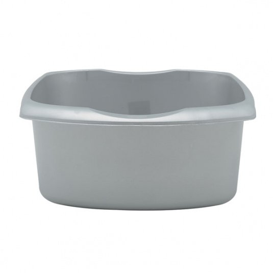 Addis Small Rectangular Metallic Grey Washing Up Bowl