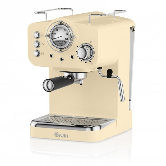 Swan Retro Cream Pump Espresso Machine