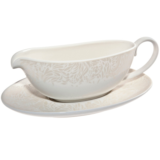 Denby Monsoon Lucille Gold Sauce Jug and Stand