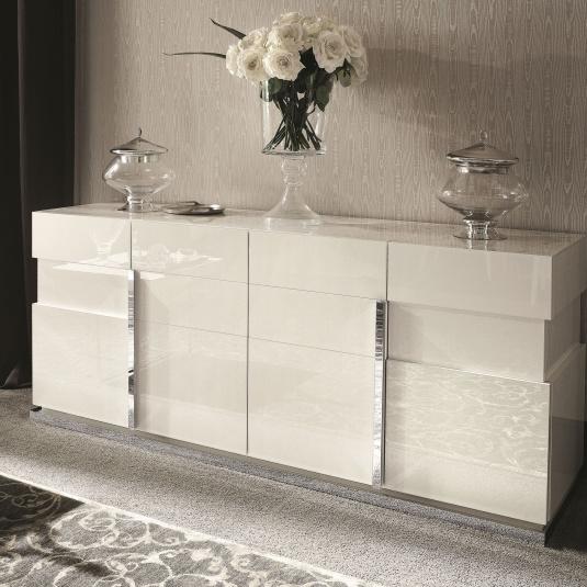 Torino White High Gloss 4 Door Sideboard